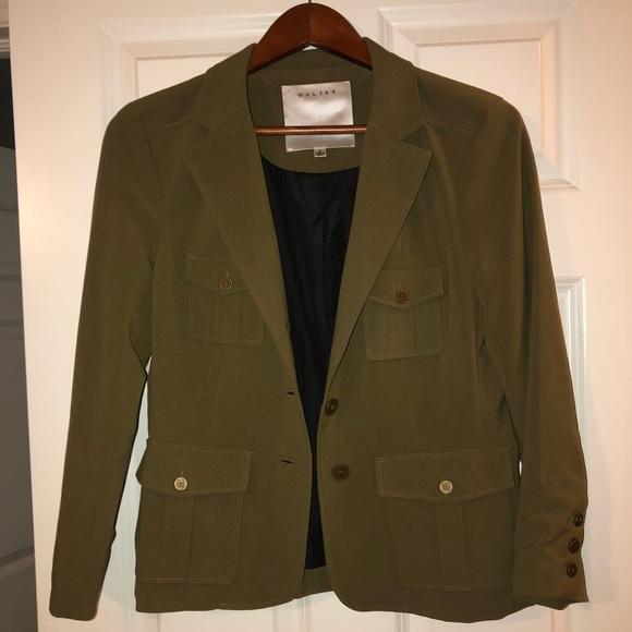 Walter Baker Jackets & Blazers - Walter Baker Green Military Blazer
